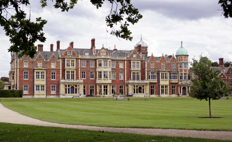 KING'S LYNN, UNITED KINGDOM - AUGUST 30: (EMBARGOED FOR PUBLICATION IN UK NEWSPAPERS UNTIL 48 HOURS AFTER CREATE DATE AND TIME) General view of Sandringham House, Queen Elizabeth II's country retreat set in 24 hectares of gardens on the Sandringham Estate, at Sandringham on August 30, 2011 in King's Lynn, England. (Photo by Indigo/Getty Images)