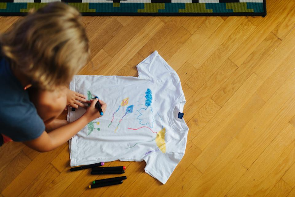 Let them loose on a T-shirt to unleash their inner fashion designer. (Getty Images)