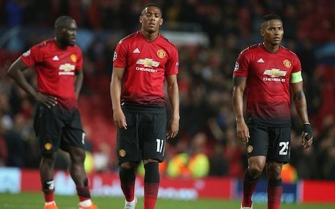<span>United players are dejected after their latest desperate showing</span> <span>Credit: Getty Images </span>