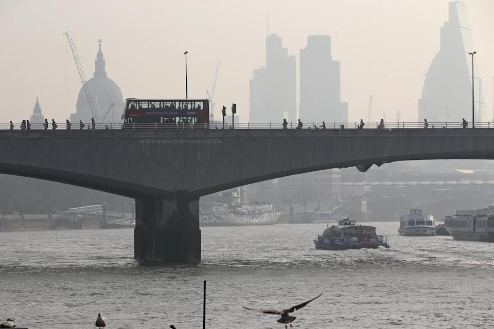 Air pollution: The UK capital repeatedly hits critical levels of pollution. (Getty Images)
