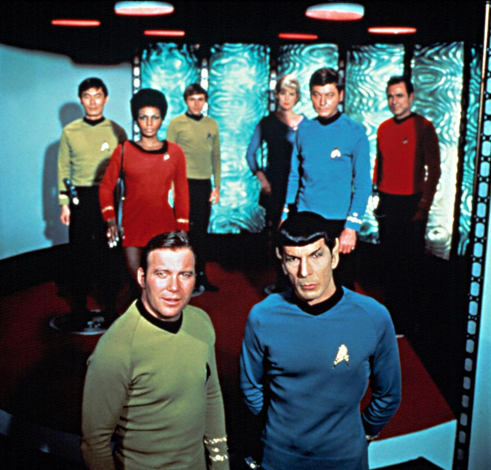 <p>For '60s-era audiences, the original Enterprise ensemble represented a veritable rainbow of color, featuring characters from different racial, cultural, and interplanetary backgrounds. At the same time, they weren't necessarily the most fashion-forward bunch. These early Starfleet suits look decidedly off-the-rack compared to some of the sleeker uniforms that followed.<br /><br />(Photo: Paramount/Courtesy Everett Collection) </p>
