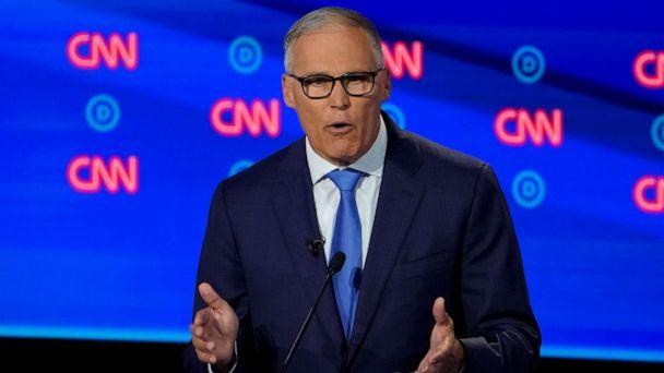 PHOTO: Gov. Jay Inslee of Washington speaks during the second night of Democratic presidential debates in Detroit, July 31, 2019. (Erin Schaff/The New York Times via Redux, FILE)