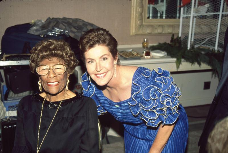 With Ella Fitzgerald in 1988 - Bei/Shutterstock