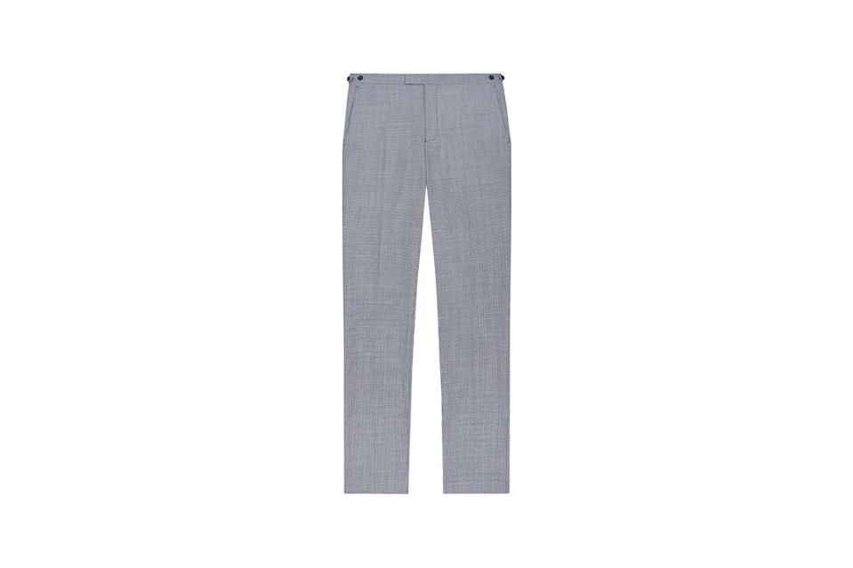 "$240, Reiss. <a href=""https://www.reiss.com/us/p/check-wool-blend-trousers-mens-hustle-in-blue-grey/?category_id=13486&gaEeList=M%20-%20SALE%20-%20MID-SEASON-SALE"" rel=""nofollow noopener"" target=""_blank"" data-ylk=""slk:Get it now!"" class=""link rapid-noclick-resp"">Get it now!</a>"