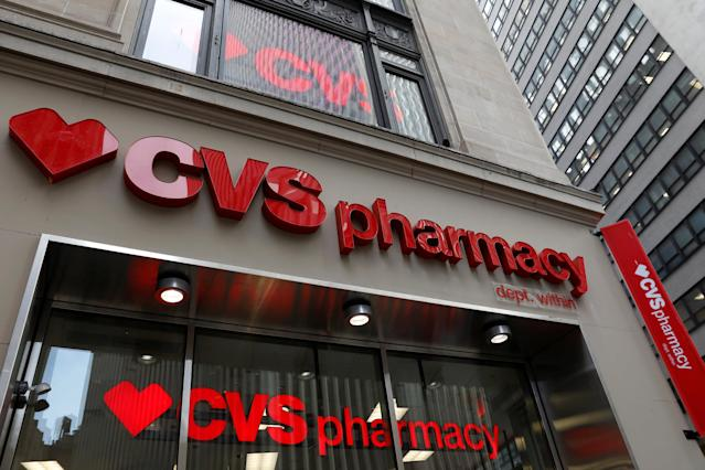 A CVS Pharmacy store is seen in the Manhattan borough of New York City, November 30, 2017. REUTERS/Shannon Stapleton
