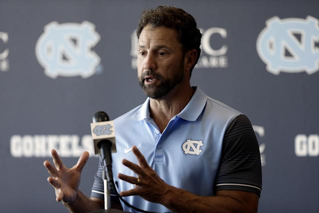 Larry Fedora saved graduation day for one UNC student. (AP)