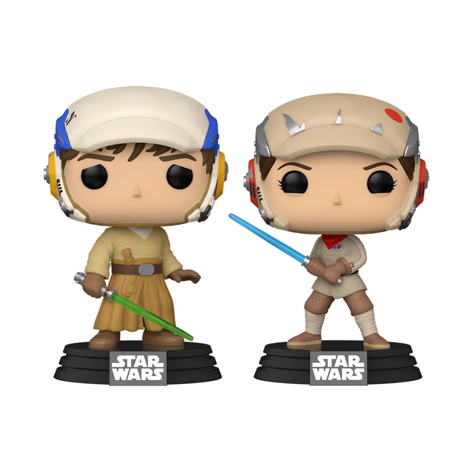 """Luke Skywalker and Princess Leia in their Jedi-training gear from """"The Rise of Skywalker."""" (Photo: Funko)"""