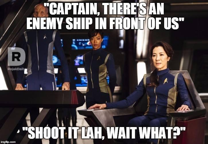 Michelle Yeoh Star Trek: Discovery Memes (Photo: Rojak Daily Facebook Page)