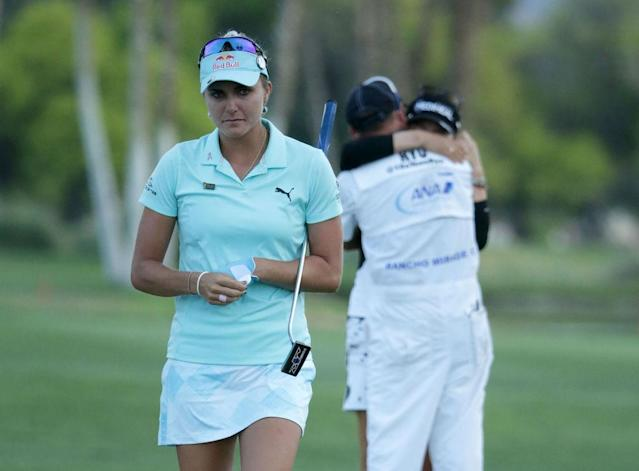 "<a class=""link rapid-noclick-resp"" href=""/golf/lpga/players/Lexi+Thompson/9210"" data-ylk=""slk:Lexi Thompson"">Lexi Thompson</a> lost the ANA Inspiration due to a viewer's meddling. (Getty)"