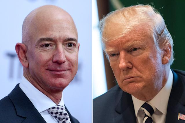 Donald Trump's feud with Jeff Bezos has led to the President calling for a review of the postal service.