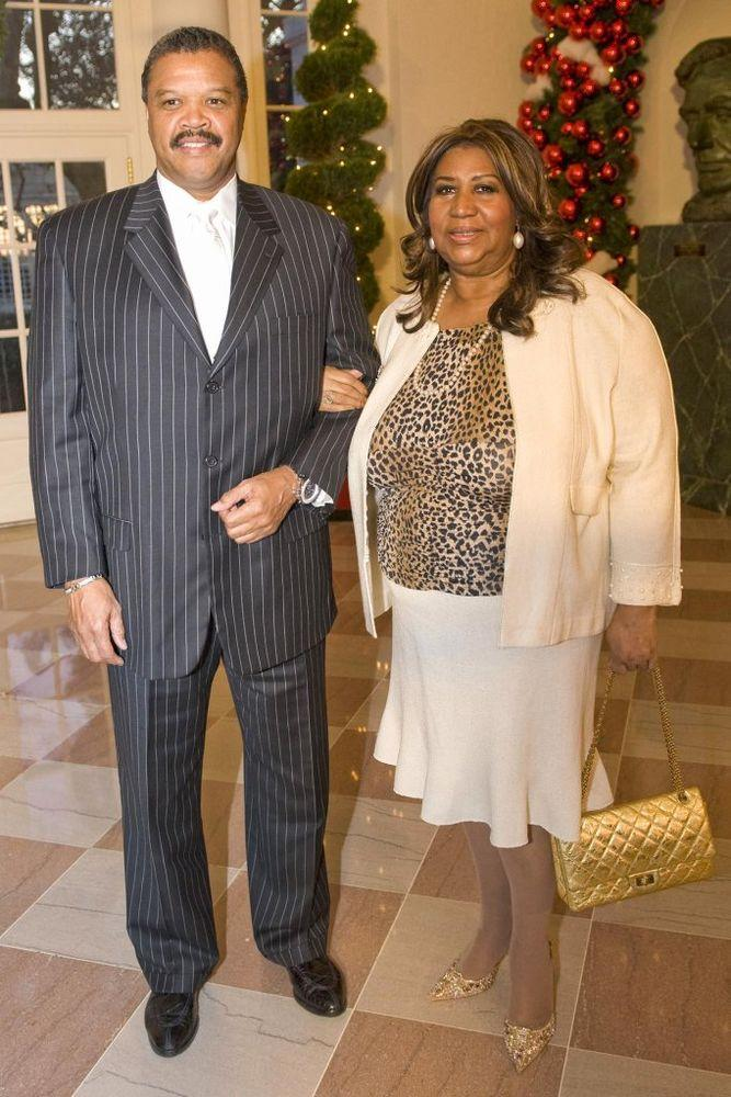 Willie Wilkerson and Aretha Franklin in 2008
