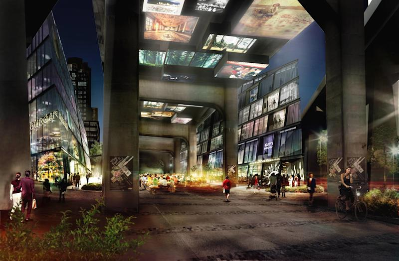 A rendering reveals what will be built under the Granville Bridge.