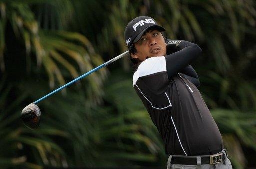 Juvic Pagunsan leads the field at the $300,000 event at Santiburi Samui Country Club in Koh Samui