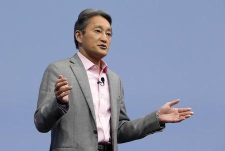 President and CEO of Sony Corporation Hirai talks during the 2015 International Consumer Electronics Show in Las Vegas