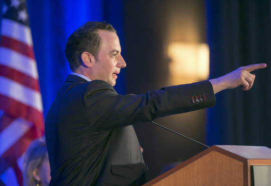 Reince Priebus, chairman of the Republican National Committee, at an RNC meeting in 2013. (Photo: Damian Dovarganes/AP)