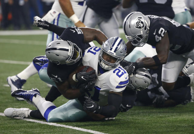 Ezekiel Elliott will be allowed to play in Week 1 against the Giants. (AP)