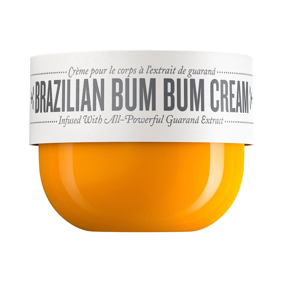 <p>If there was ever a product that can transport you on vacation, it's this iconic <span>Sol de Janeiro Brazilian Bum Bum Cream</span> ($20-$45). Sure, you're (probably) not in Ipanema right now . . . but the guaraná, cupuaçu, açaí, and coconut inside send you straight to Brazil in spirit.</p>