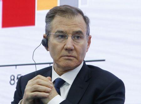 CEO of Glencore Glasenberg attends the St. Petersburg International Economic Forum