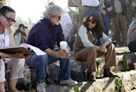 <p>Lucas and Allen on the set of <em>Indiana Jones and The Kingdom Of The Crystal Skull</em>.</p>