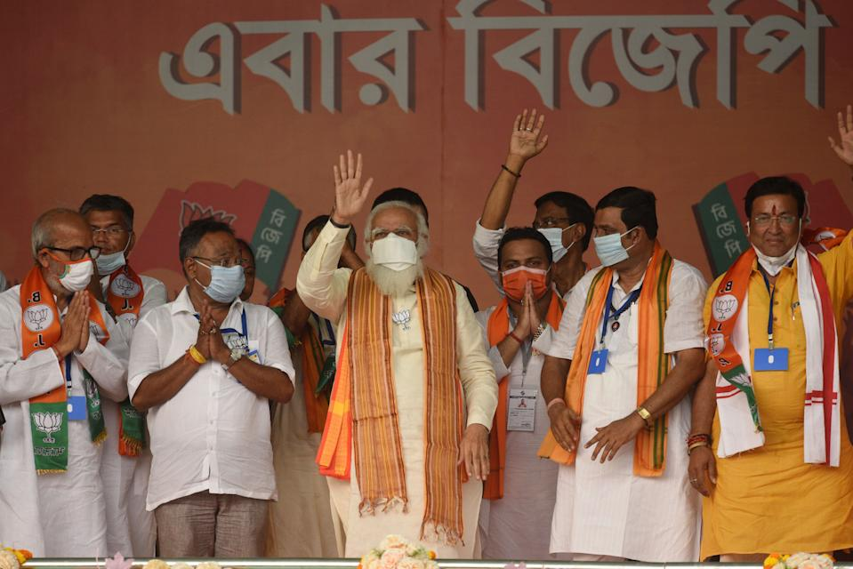 Modi in Bengal amid COVID