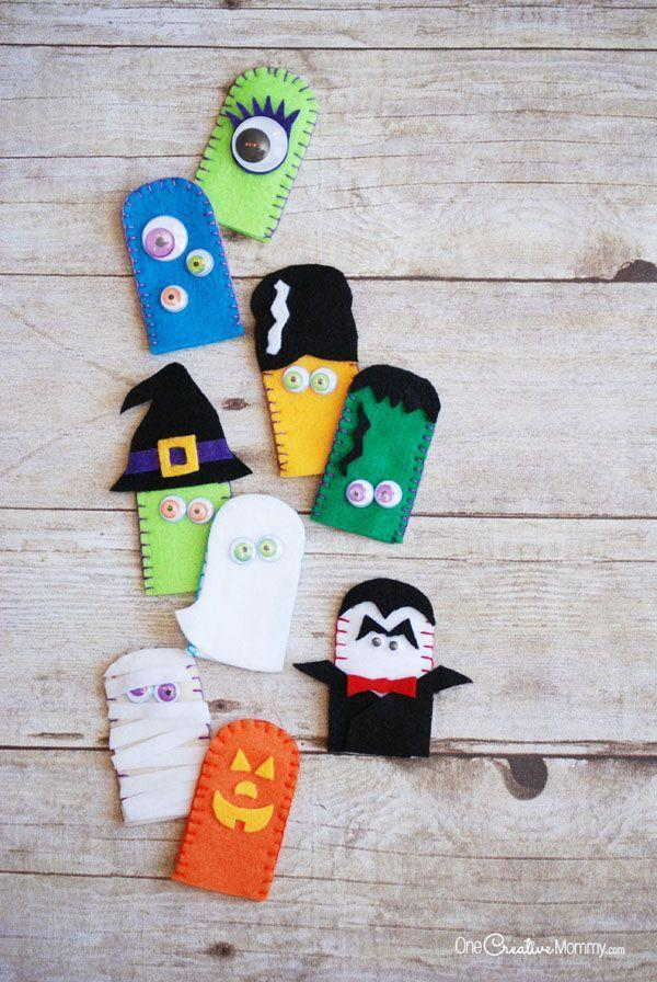 """<p>These tiny trinkets are just the thing to keep your children occupied at home and away.</p><p><strong>Get the tutorial at <a href=""""https://onecreativemommy.com/felt-halloween-finger-puppets-kids-craft/"""" rel=""""nofollow noopener"""" target=""""_blank"""" data-ylk=""""slk:One Creative Mommy"""" class=""""link rapid-noclick-resp"""">One Creative Mommy</a>.</strong> </p>"""