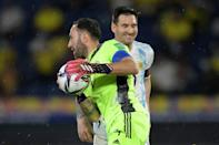 Colombia goalkeeper David Ospina (left) denied Argentina star Lionel Messi with two inspired saves