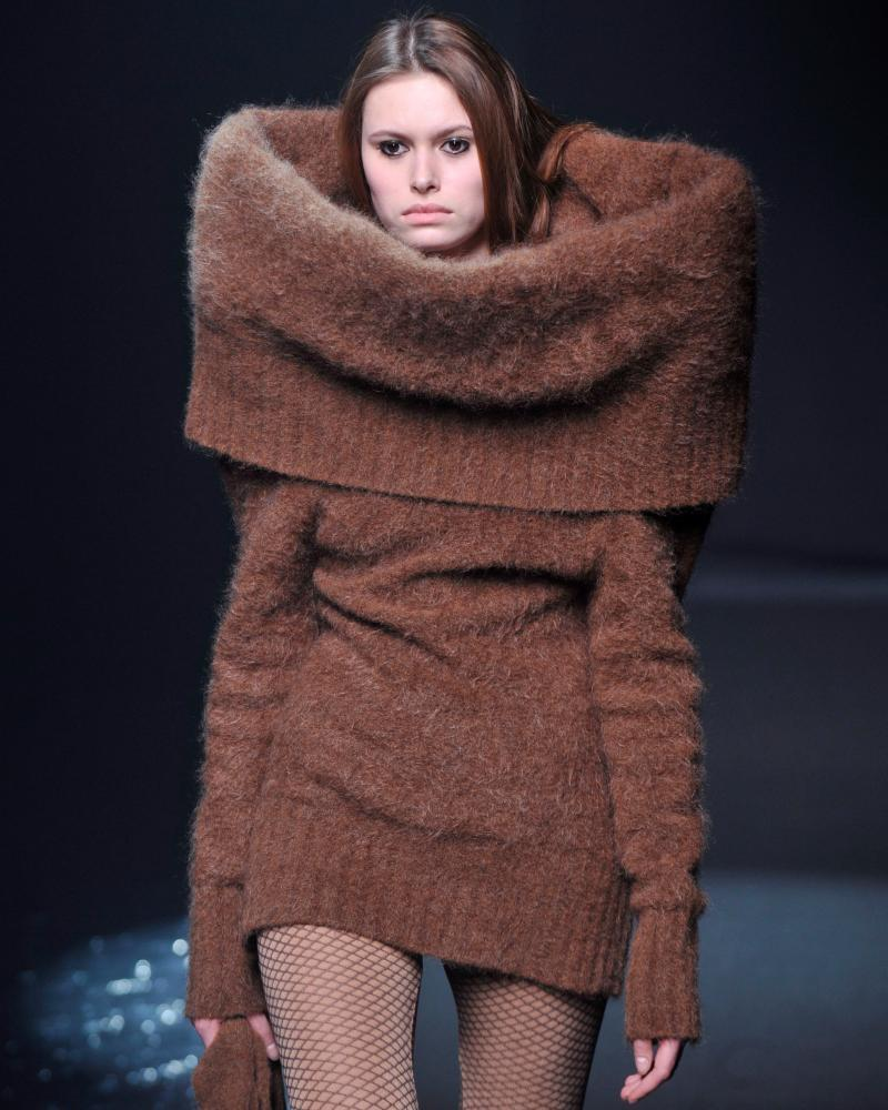 A model wears a creation from Maison Martin Margiela's autumn/winter 2008 collection