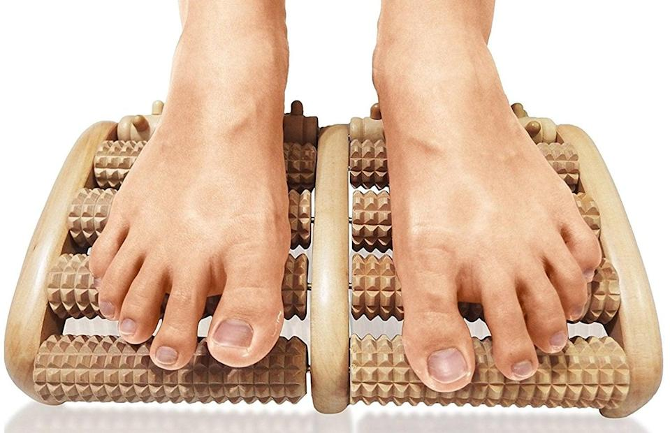 <p>Get some relief with this <span>TheraFlow Dual Foot Massager Roller</span> ($17, originally $25).</p>