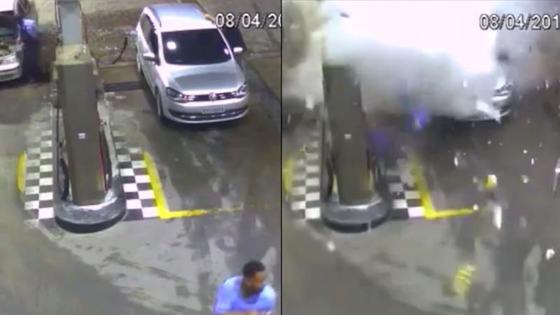 Car Explodes at CNG Station in Brazil During Refuelling, 1 Killed