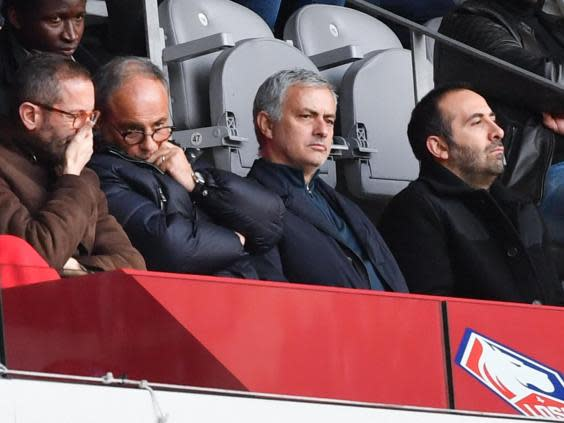 Mourinho attended Lille vs Montpellier in February (AFP/Getty)