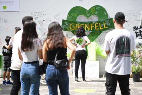 Londoners commemorate the third anniversary of the Grenfell disaster (PA)