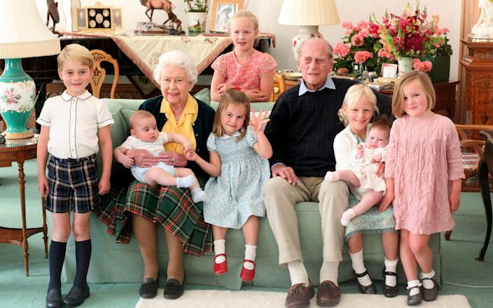 Queen Elizabeth and Prince Philip with their great grandchildren - Duchess of Cambridge