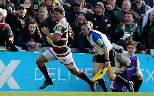 Ben Youngs breaks clear to score a try - Getty Images Europe