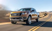 "<p>After its global release in 2010, U.S. fans of the classic <a href=""https://www.caranddriver.com/ford/ranger"" rel=""nofollow noopener"" target=""_blank"" data-ylk=""slk:Ford Ranger"" class=""link rapid-noclick-resp"">Ford Ranger</a> had their prayers finally answered with the truck's mighty return stateside for 2019. Every Ranger is powered by a 270-hp turbocharged 2.3-liter inline-four with a 10-speed automatic transmission even in small-cab/long-bed or big-cab/short-bed configuration. The 2.3-liter two-wheel-drive Ranger is the most fuel efficient gas-powered midsize pickup in the segment. The FX4 off-road package offers an exposed steel skid plate, front tow hooks, and plates to protect its fuel tank, transfer case, and front diff, giving it serious unpaved capability. We found that on paved roads the Ranger's acceleration and braking performance are a bit old-school rugged when compared to its more civilized rivals. A <a href=""https://www.caranddriver.com/ford/ranger-raptor"" rel=""nofollow noopener"" target=""_blank"" data-ylk=""slk:Ranger Raptor"" class=""link rapid-noclick-resp"">Ranger Raptor</a> is planned for the U.S Market, that's likely to offer more off-road capability with an improved suspension or powertrain. <a class=""link rapid-noclick-resp"" href=""https://www.caranddriver.com/ford/ranger/specs"" rel=""nofollow noopener"" target=""_blank"" data-ylk=""slk:MORE FORD RANGER SPECS"">MORE FORD RANGER SPECS</a></p><ul><li>Base price: $26,015</li><li>Powertrain: 270-hp 2.3L turbo inline-4, 10-speed automatic transmission</li><li>Max Towing: 7500 lb</li></ul>"