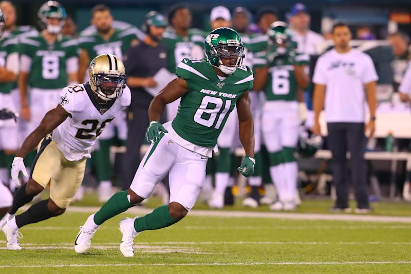 New York Jets wide receiver Quincy Enunwa will miss the rest of the season due to a neck injury. (Getty Images)
