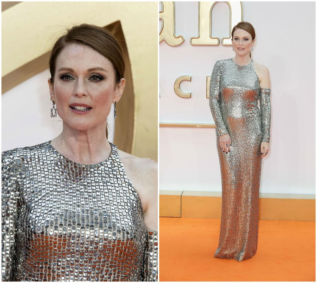 <p>Tom Ford fue el encargado de vestir a Julianne Moore en la p<em>remiere</em> mundial de 'Kingsman: The Golden Circle'. (Foto: AP / Chris Jackson / Getty Images). </p>