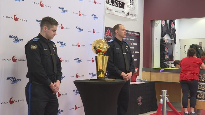 Holland College gets a big league visit from Larry O'Brien NBA trophy
