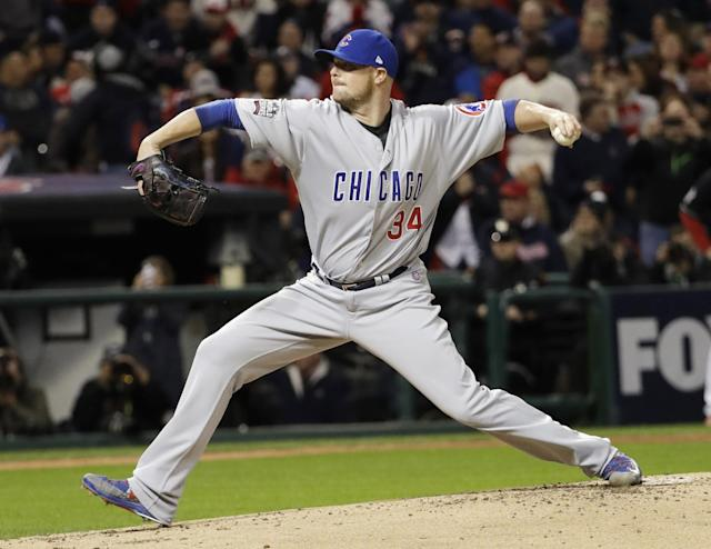 Jon Lester only allowed 55 runs all season. That's good. (AP)