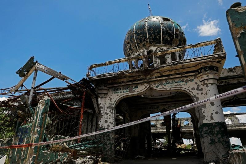 FILE PHOTO: The war-torn Grand Mosque is pictured in Marawi City