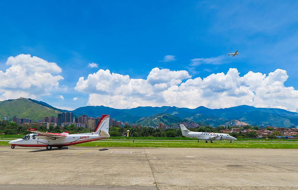 Airplanes from the regional airline EasyFly  at the airfield of the domestic airport. Source: Getty