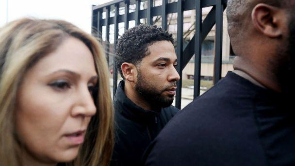 PHOTO: 'Empire' actor Jussie Smollett leaves the Cook County Jail in Chicago, Feb. 21, 2019. (Chris Sweda/Chicago Tribune/TNS via Getty Images)