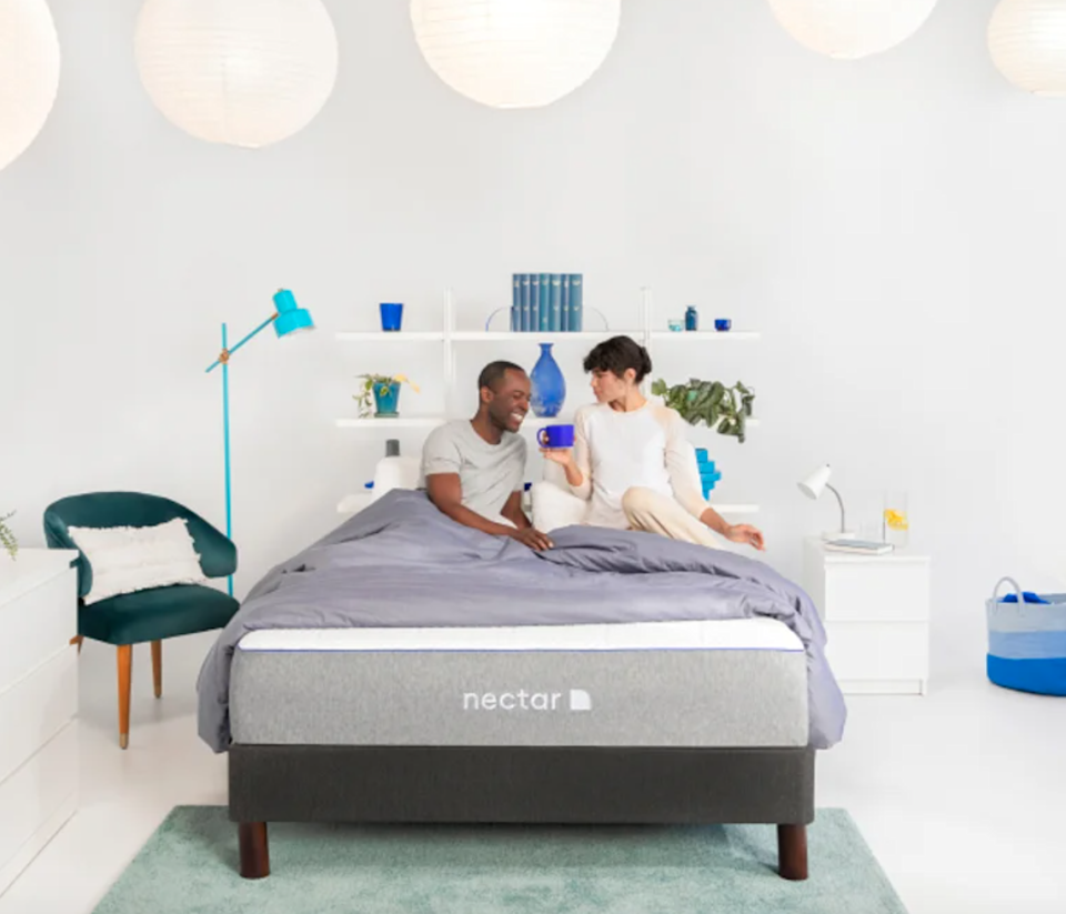 """<h3>Nectar</h3><br><strong>Dates:</strong> 11/30<br><strong>Deal: </strong>$399 worth of accessories included with every mattress purchase<br><strong>Promo Code: </strong>No code needed<br><em><br>Shop <strong><a href=""""https://www.nectarsleep.com/"""" rel=""""nofollow noopener"""" target=""""_blank"""" data-ylk=""""slk:Nectar"""" class=""""link rapid-noclick-resp"""">Nectar</a></strong><br></em><br><br><strong>Nectar</strong> The Nectar Memory Foam Mattress, $, available at <a href=""""https://go.skimresources.com/?id=30283X879131&url=https%3A%2F%2Fwww.nectarsleep.com%2Fmattress"""" rel=""""nofollow noopener"""" target=""""_blank"""" data-ylk=""""slk:Nectar Sleep"""" class=""""link rapid-noclick-resp"""">Nectar Sleep</a>"""