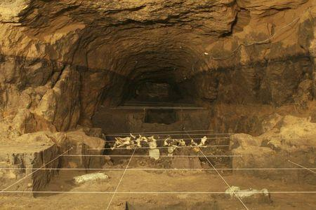 A view of a tunnel that may lead to a royal tombs discovered at the ancient city of Teotihuacan is seen in this May 22, 2014 INAH handout file picture made available to Reuters October 29, 2014.REUTER/INAH/Files/Handout via Reuters