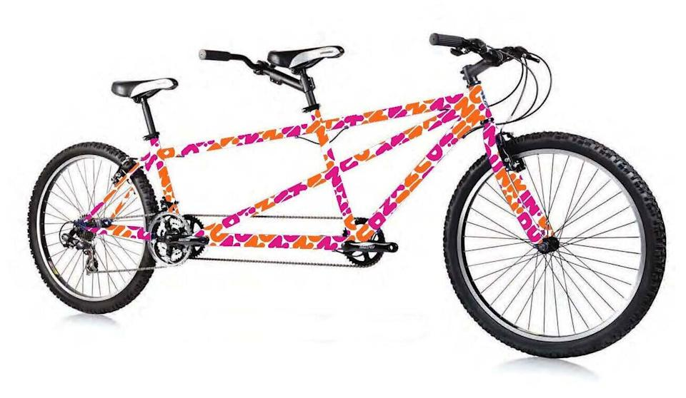 An image of the Dunkin' tandem bike provided by the company. (Photo: Dunkin')
