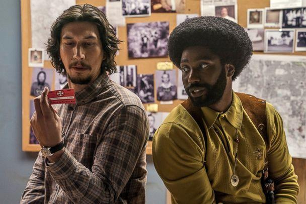 PHOTO: Adam Driver and John David Washington in a scene from 'BlacKkKlansman.' (Focus Features)