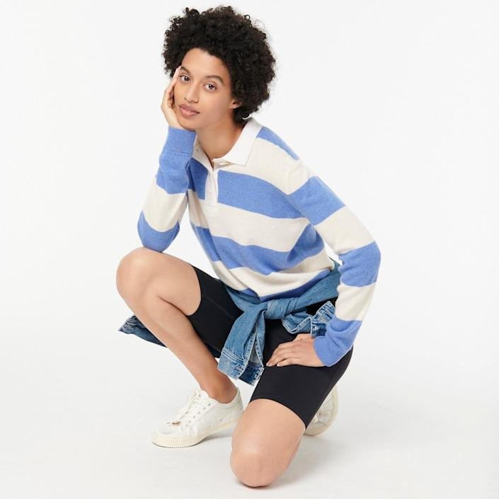 "<p>""I can't get enough of the new sporty, vintage looks J.Crew just released. I had to immediately get this <span>Collared Cashmere Sweater in Rugby Stripe</span> ($168) to enjoy while it's still cooler."" - Lisa Sugar, POPSUGAR editor in chief</p>"