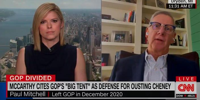 Former GOP Rep. Paul Mitchell talks with CNN on Tuesday.