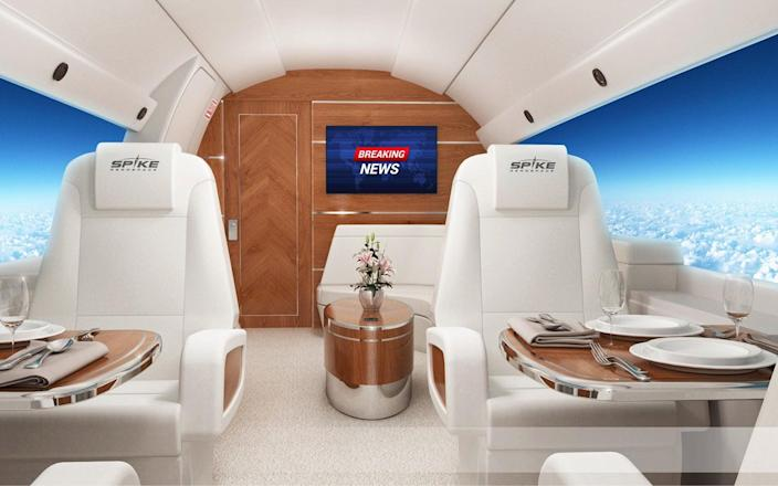 Five star dining on board the Spike S-512