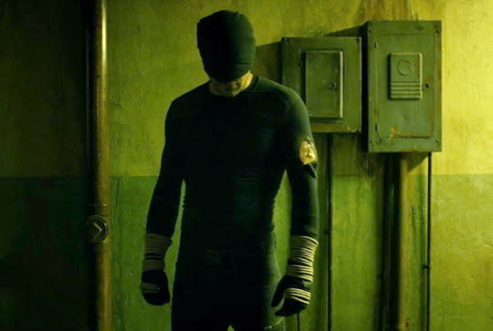 <p>We've seen superhero battles before, but none as simultaneously exhausting and exhilarating as the free-for-all that closes out <i>Daredevil</i>'s second episode. On a mission to rescue a kidnapped child, a battered and bruised Matt Murdock — still wearing his ninja-esque black costume, rather than his red leather ensemble — runs a gauntlet of weapon-wielding henchmen. He gets knocked down, but he gets up again, 'cause they're never gonna keep him down. Lasting almost five minutes and filmed to resemble a single take, the sequence was a masterwork of fight choreography and timing — more like a ballet than a battle. — <i>Ethan Alter</i></p><p><i>(Credit: Netflix)</i></p>