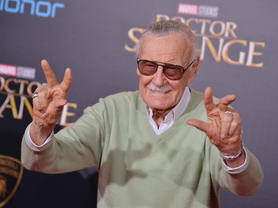 """Stan Lee arrives at Marvel Studios' """"Doctor Strange"""" Los Angeles Premiere held at the El Capitan Theatre in Hollywood, CA on Thursday, October 20, 2016. (Photo By Sthanlee B. Mirador) *** Please Use Credit from Credit Field ***"""